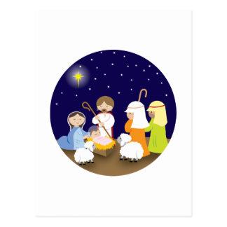 Natividad del señor tarjeta postal