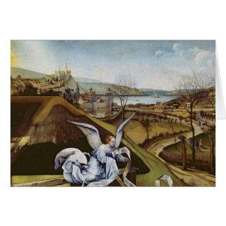 Natividad, detalle del paisaje tarjeton