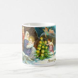 Natividad en la nieve taza