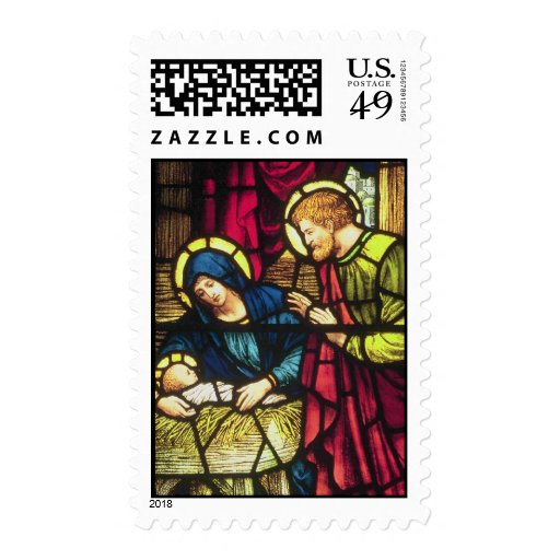 Natividad en vitral franqueo