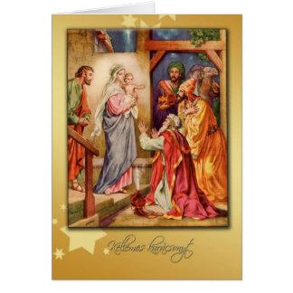natividad húngara de la tarjeta de las Felices Nav