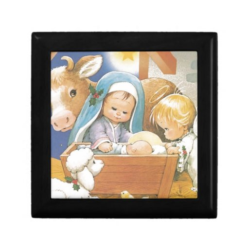 Natividad Joyero Cuadrado Pequeño