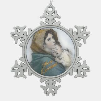 Natividad Madonna del navidad y ornamento del niño
