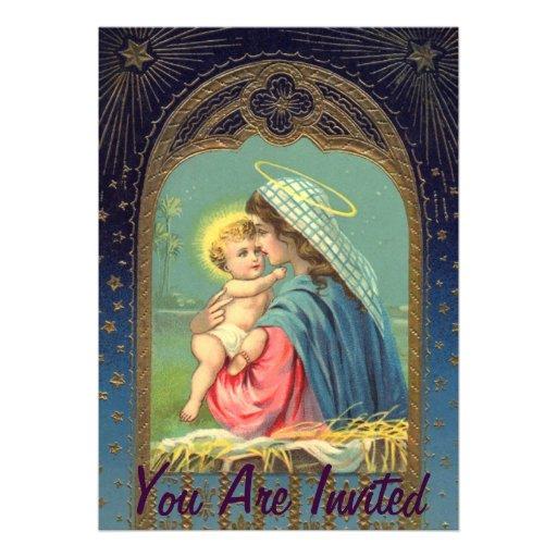 Natividad Maria que detiene al bebé Jesús Anuncios