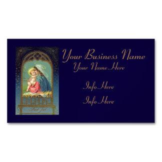 Natividad Maria que detiene al bebé Jesús Tarjetas De Visita Magnéticas (paquete De 25)
