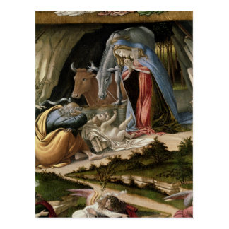Natividad mística, 1500 postal