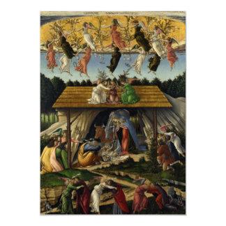 """Natividad mística de Sandro Botticelli Invitación 5"""" X 7"""""""