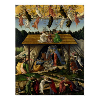 Natividad mística de Sandro Botticelli Tarjeta Postal