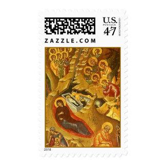 Natividad ortodoxa griega timbre postal