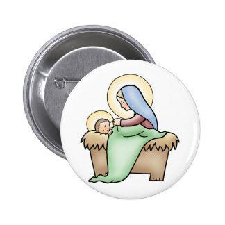 Natividad Pin Redondo 5 Cm