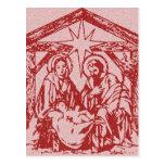 Natividad roja tarjetas postales