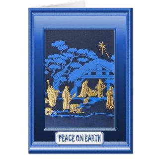 Natividad, tarjeta de Navidad religiosa