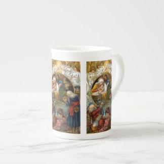 Natividad Taza De Porcelana