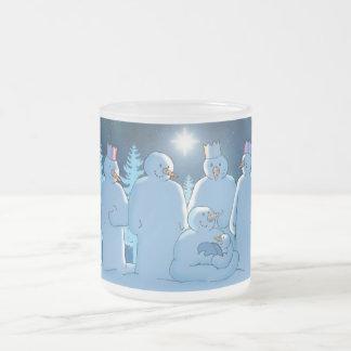 Nativity 10 Oz Frosted Glass Coffee Mug