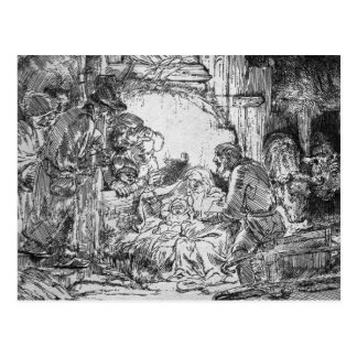 Nativity, 1654 postcard