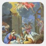 Nativity, 1667 square sticker