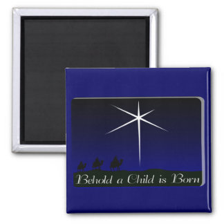 Nativity A Child Is Born Magnet