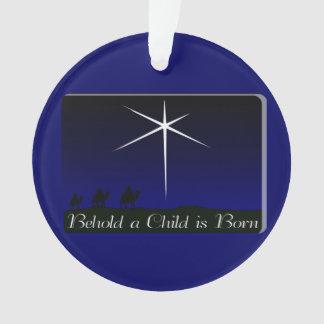 Nativity A Child Is Born Ornament