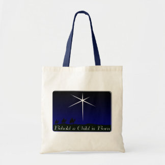 Nativity A Child Is Born Tote Bag