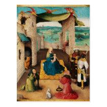 NATIVITY,ADORATION OF MAGI by BOSCH Christmas Postcard