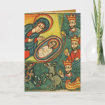 NATIVITY,ADORATION OF MAGI IRISH CHRISTMAS PRAYER HOLIDAY CARD