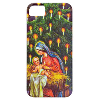 Nativity and a Christmas tree iPhone SE/5/5s Case