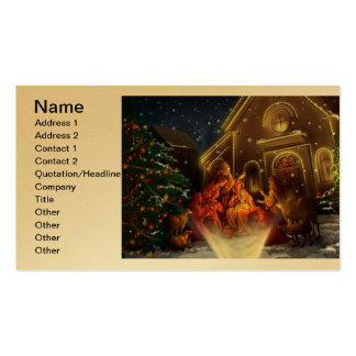 Nativity and Church - The Birth of Christ Business Card Template