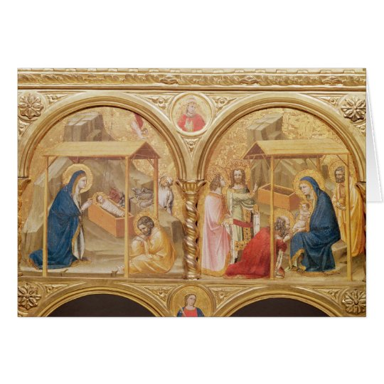 Nativity and the Adoration of the Magi Card