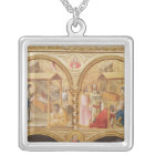 Nativity and the Adoration of the Magi Silver Plated Necklace