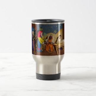 nativity baby Jesus Mary three kings christmas Travel Mug