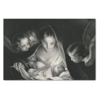Nativity Birth of Jesus Christ Angels Virgin Mary Tissue Paper
