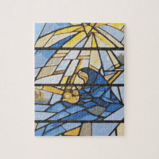 Nativity Blues Stained Glass Puzzle