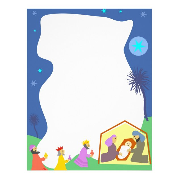 Christmas Nativity Borders For Letters | galleryhip.com - The Hippest ...