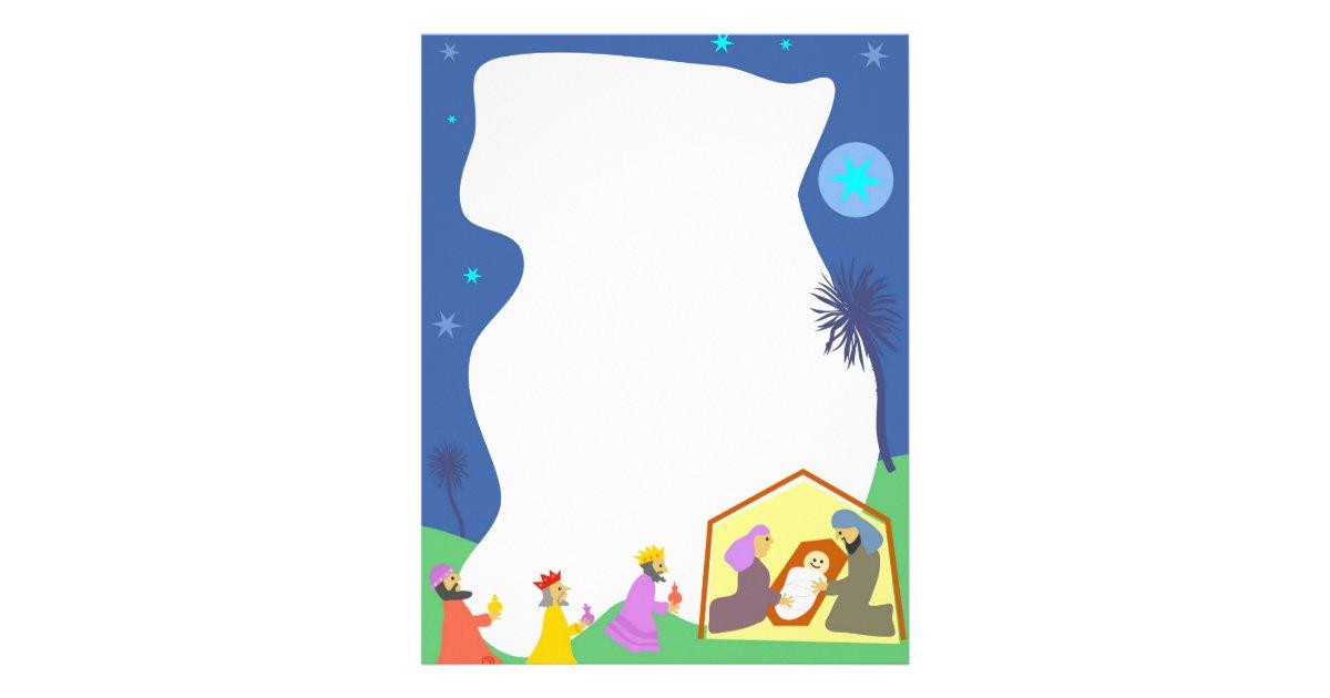 Nativity Border Letterhead   Zazzle.com