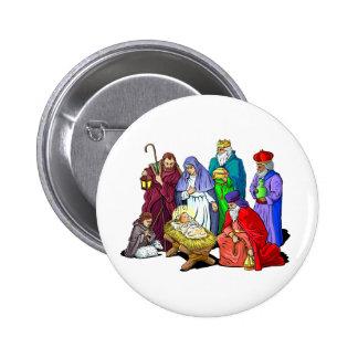 Nativity_Button Pin Redondo De 2 Pulgadas