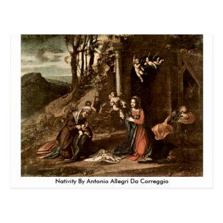 Nativity By Antonio Allegri Da Correggio Postcards
