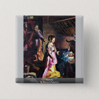 Nativity By Barocci Federico Button