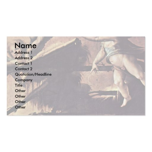 Nativity  By Beccafumi Domenico Double-Sided Standard Business Cards (Pack Of 100)