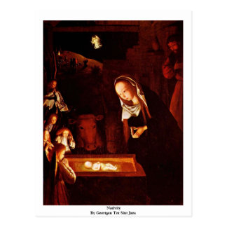 Nativity By Geertgen Tot Sint Jans Postcard