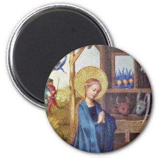 Nativity By Lochner Stefan 2 Inch Round Magnet