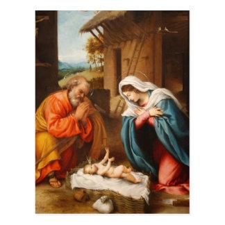 Nativity by Lorenzo Lotto Postcard
