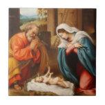 Nativity by Lorenzo Lotto Tiles