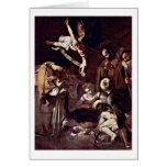 Nativity By Michelangelo Merisi Da Caravaggio Card
