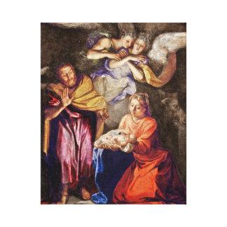 Nativity by Noel Coypel Canvas Print