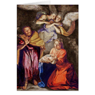Nativity by Noel Coypel Greeting Card