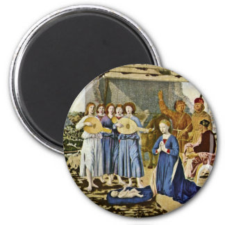 Nativity By Piero Della Francesca (Best Quality) 2 Inch Round Magnet
