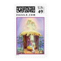 NATIVITY by SHARON SHARPE Postage Stamp