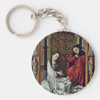Nativity By Weyden Rogier Van Der (Best Quality) Keychain