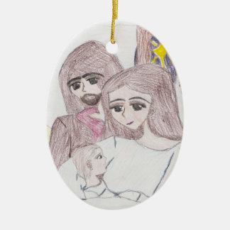 Nativity Ceramic Ornament