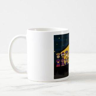 Nativity Characters at Barn by Night Mug mug